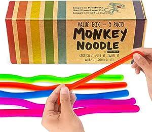 Stretchy String Fidget Noodle Autism ADHD Sensory Anti Toy-Ne Fiddle Stress N6U3