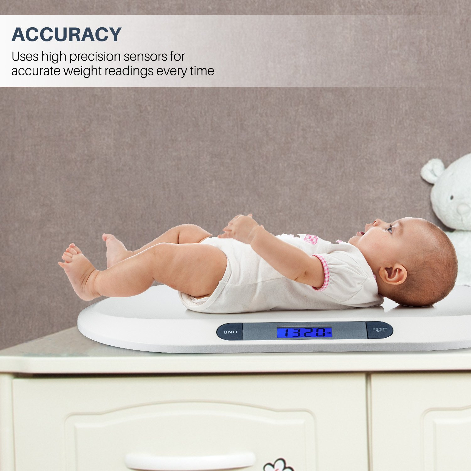 Amazon smart weigh comfort baby scale with 3 weighing modes 44 amazon smart weigh comfort baby scale with 3 weighing modes 44 pound lbs capacity accurate digital scale for infants toddlers and babies baby geenschuldenfo Choice Image