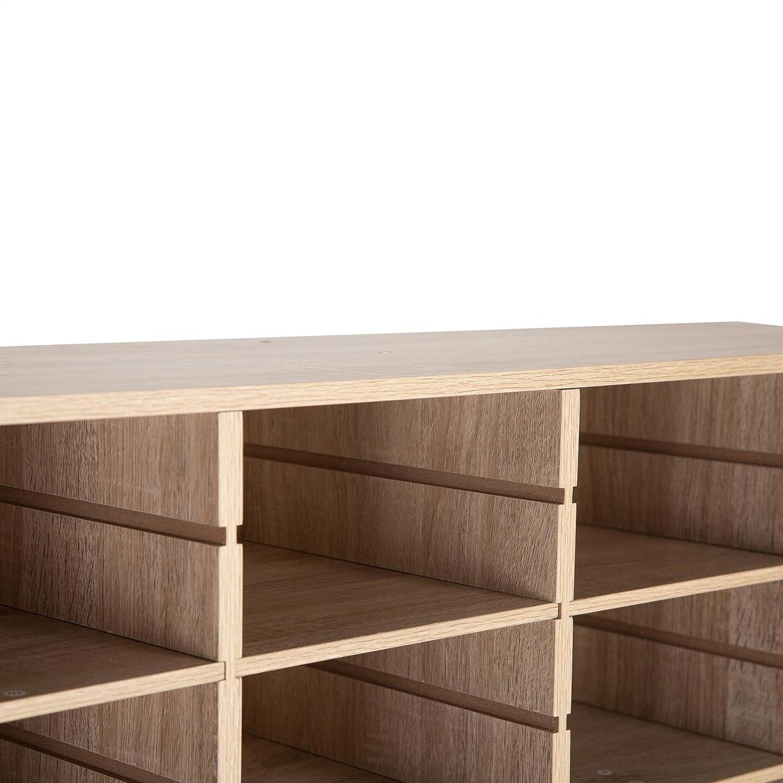 Idimex Meuble A Chaussures Murray Casier Avec Tablettes Modulables Rangement Pour 16 Paires En Melamine Decor Chene Sonoma