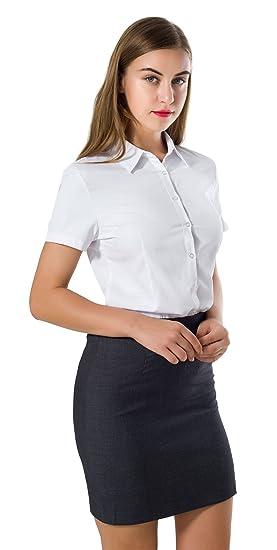 Double Plus Open Dpo Women S Cotton Tailored Button Down Dress Shirt