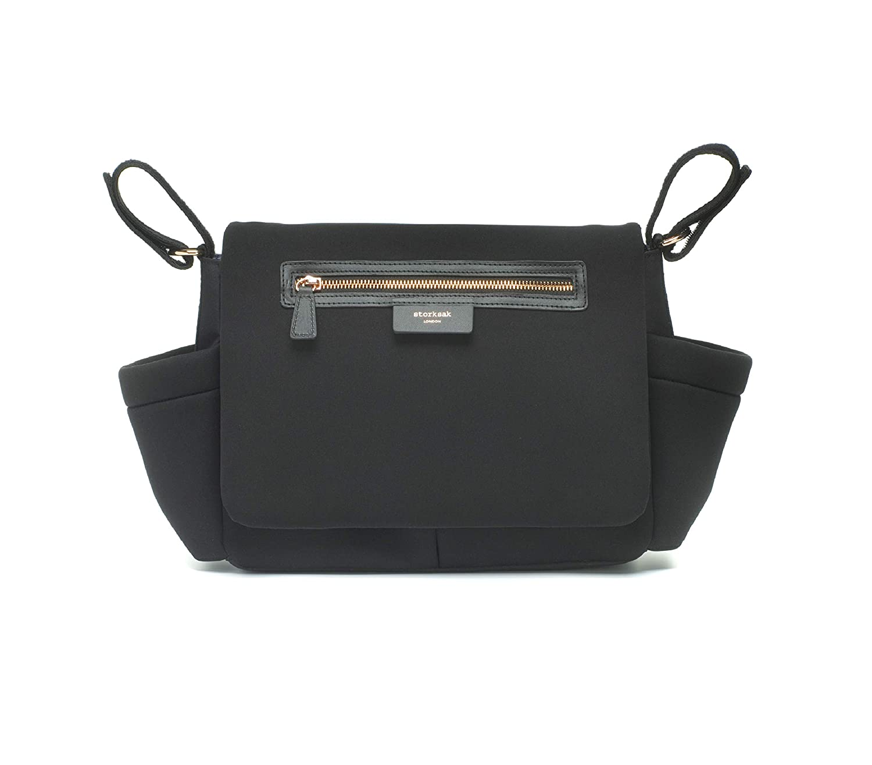 Storksak Stroller Organizer Luxe, Scuba Black Bags that Work dba Storksak