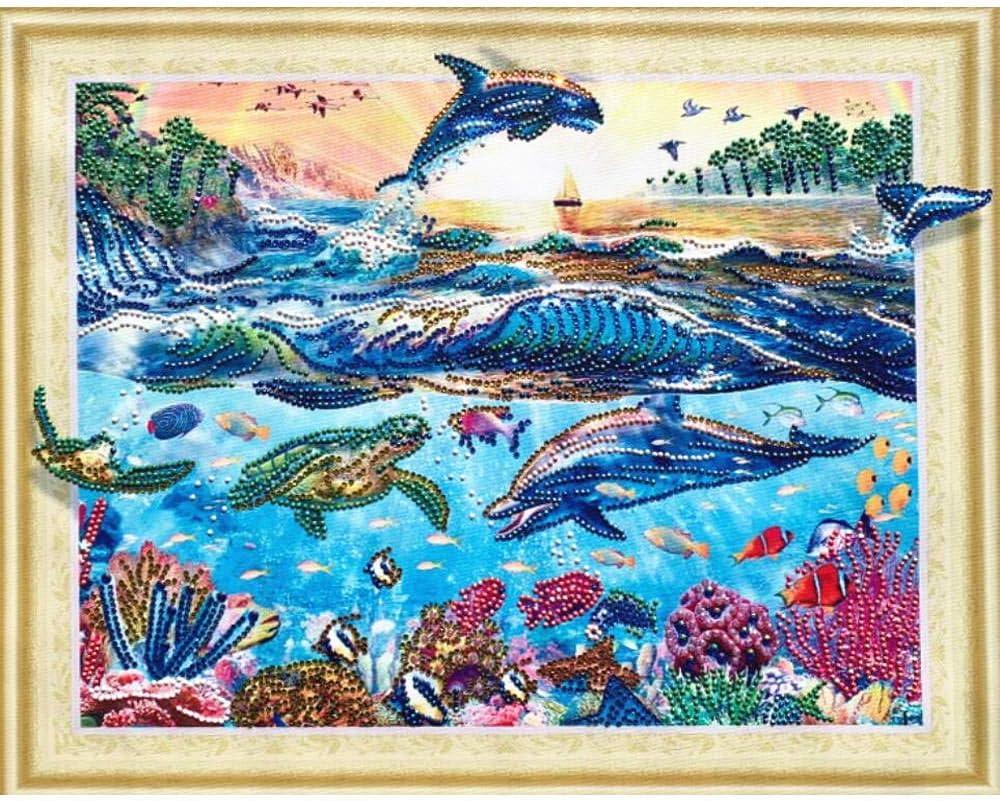 5D DIY Special-shaped Diamond Painting Cross Stitch Needlework Mosaic Wall Art