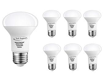 Bombillas reflectoras LED de Tech Traders R63 (aluminio, plástico, E27, 9 W), color blanco: Amazon.es: Iluminación