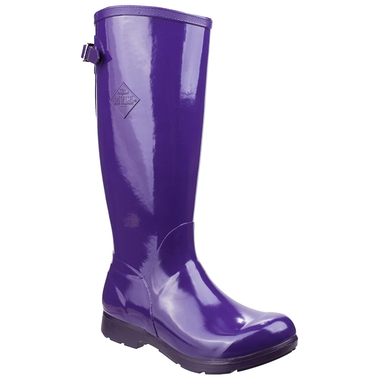 Muck Boot Womens/Ladies Bergen Tall Lightweight Rain Boots B07DBTZGNS 5 M US|Purple