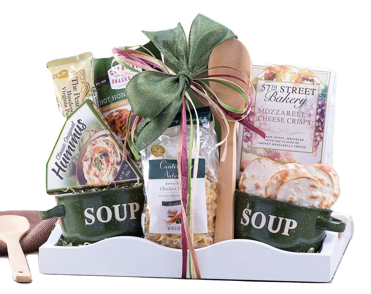 Wine Country Gift Baskets Soup's On Family Gift With Delicious Food and Old-Fashioned Comforting Chicken Soup.