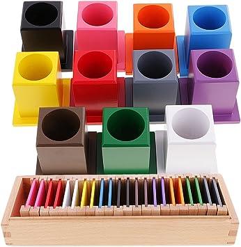 MagiDeal Montessori Porta Lápiz de Colores + Caja de Colores ...