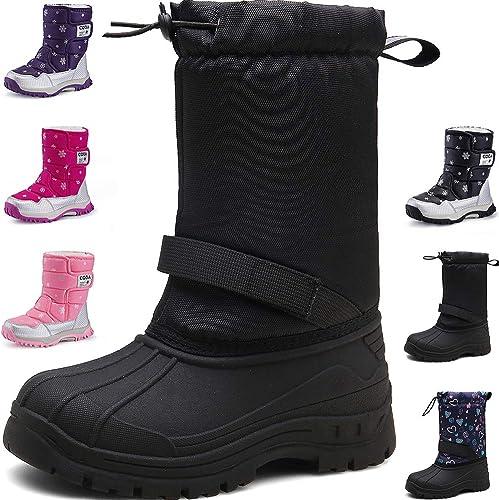 Kinder Schuhe Stiefel Stiefeletten für Jungen Mädchen Boots Warme Winterschuhe