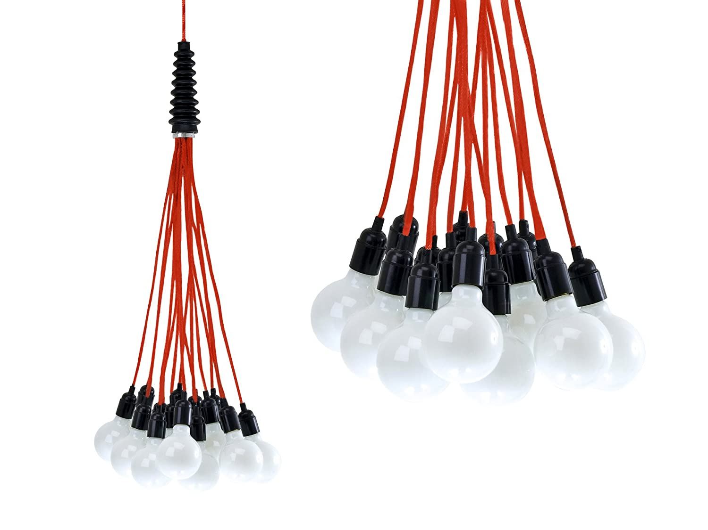 Leitmotiv Hängeleuchte Bundle Light, Kabel rot LM580