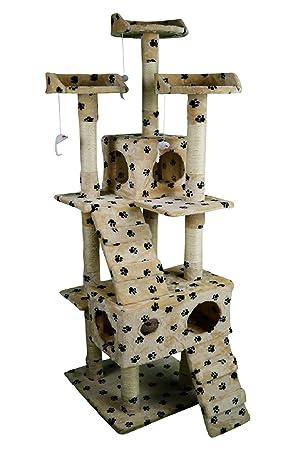 lethzer Rascador Gato – Árbol para gatos Árbol con cueva Escalada escalera Camilla Plataforma parte Elementos