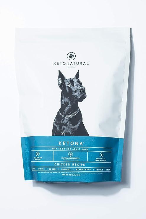 Ketona Pollo Receta alimento seco para Perros Adultos – bajo en carbohidratos, Alto Contenido de proteínas, Comida para Perros sin Granos