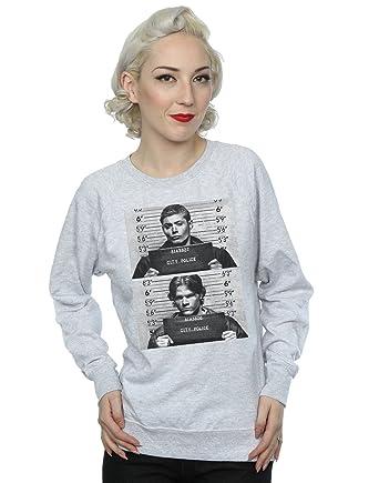 Supernatural Femme Winchester Mugshots Sweat Shirt Amazon Fr