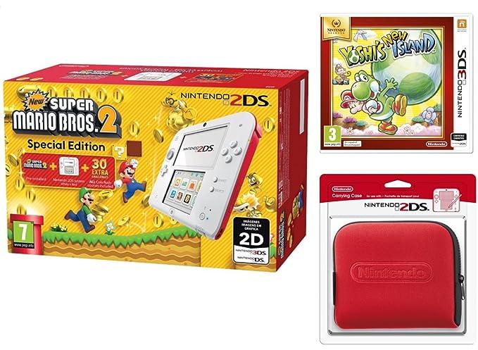 Nintendo 2DS - Consola, Color Rojo + New Super Mario Bros 2 ...