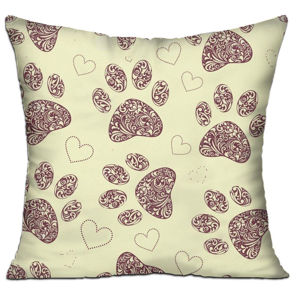 Amazon.com: WQBZL Floral Animal Paw Print Fashion Decorative ...