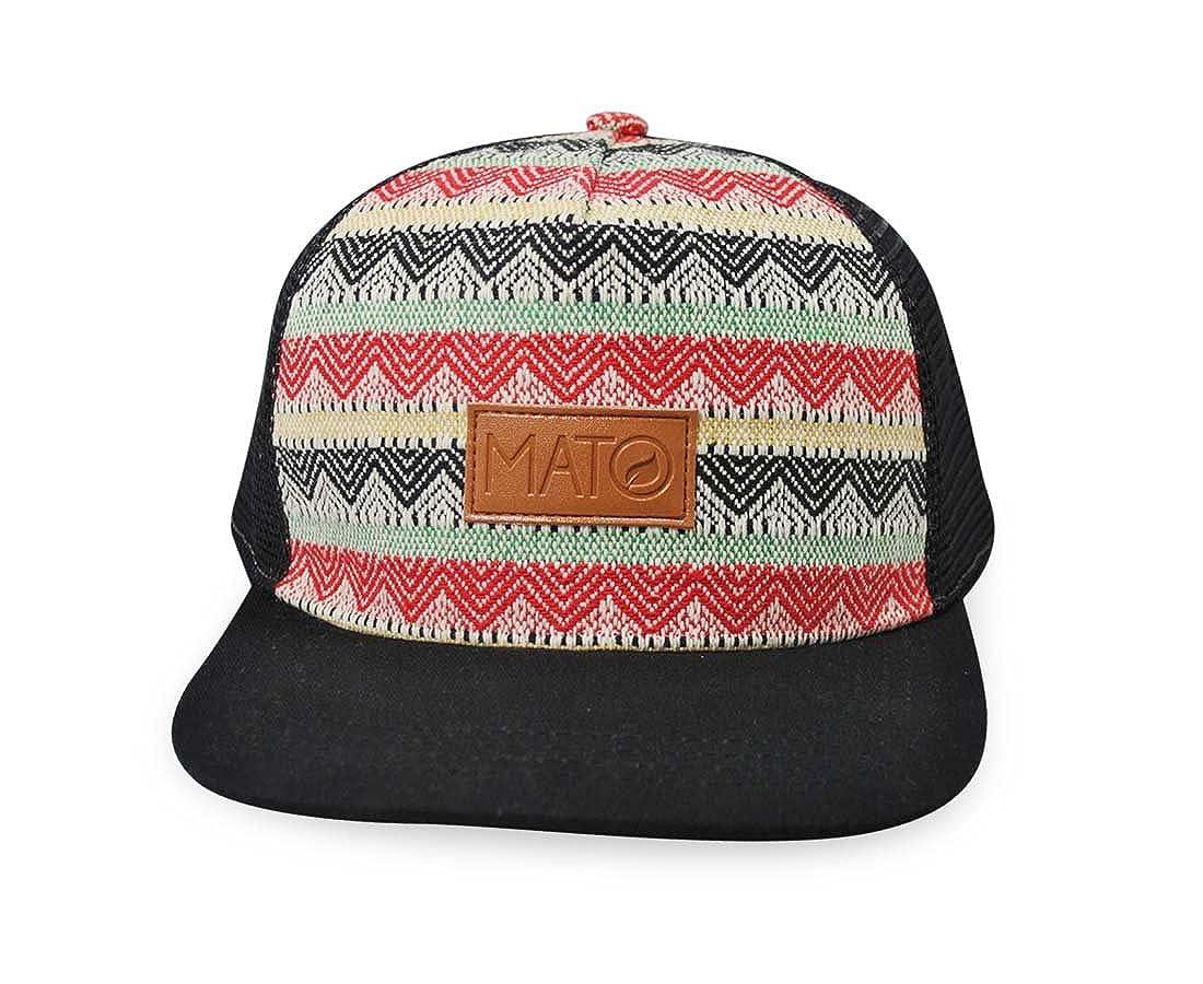 744c4942698859 Mato Snapback Trucker Hat Boho Woven Tribal Aztec Pattern Flat Brim Net Mesh  Adjustable Baseball Cap Black: Amazon.co.uk: Clothing