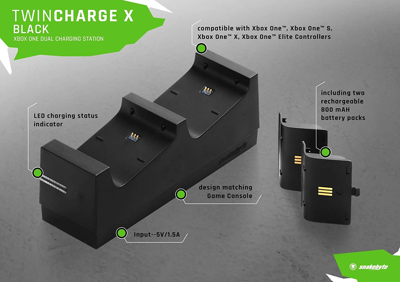 snakebyte Xbox One Twin:Charge X™ (black): Amazon.es: Bricolaje y herramientas