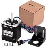 Quimat 3Dプリンター用 ステッピングモータ バイポーラ 2A 59Ncm(84oz.in) 48mm本体 4リードW/ 1mケーブル 3Dプリンター NEMA17標準 線式 CNCパーツ QD04