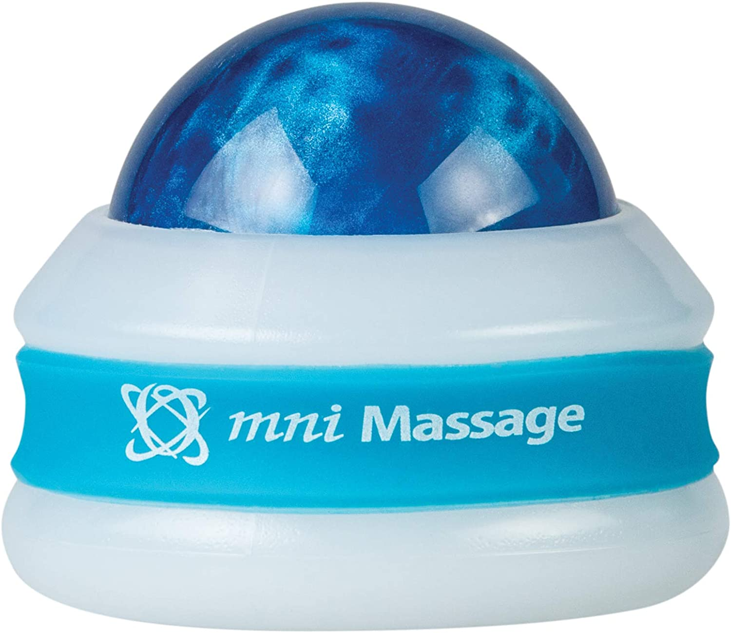 Core Products Mini Omni Massage Ball Manual Roller Massager for Self Massage Therapy Tool, White Cap - Blue: Health & Personal Care