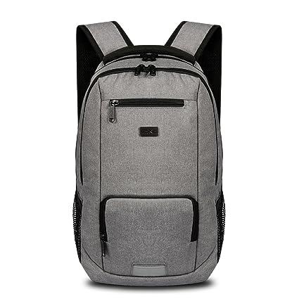 Elegante mochila grande negocio simple doble bolso mochila de viaje en el exterior, hombres y