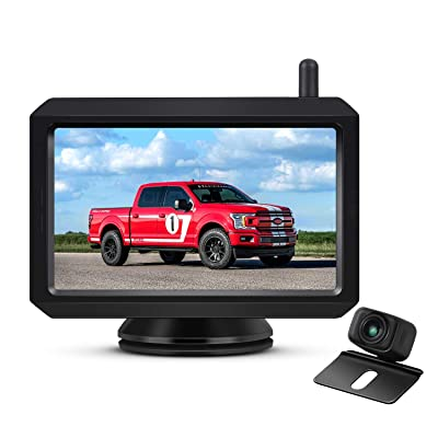 AUTO-VOX W7 Wireless Backup Camera Kit, 5 Inch Monitor with Stable Digital Signal Transmission from Rear View Camera. Suitable for Truck, Van, SUV, Camping Car: Car Electronics