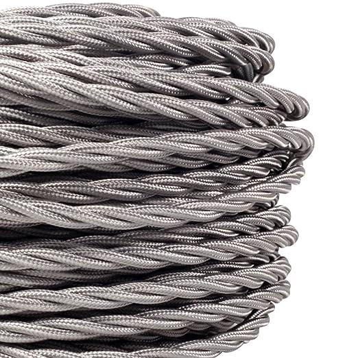 para tela de mm2 1 lámpara 3 x Cable Fabricado 50 yute en QBxWCoreEd
