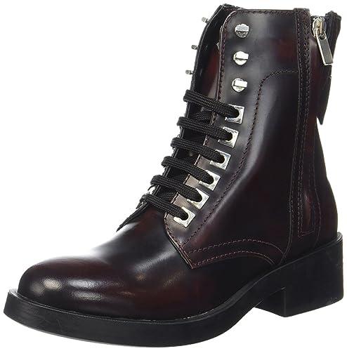 Guess Botines de Cordones Burdeos EU 35: Amazon.es: Zapatos y complementos