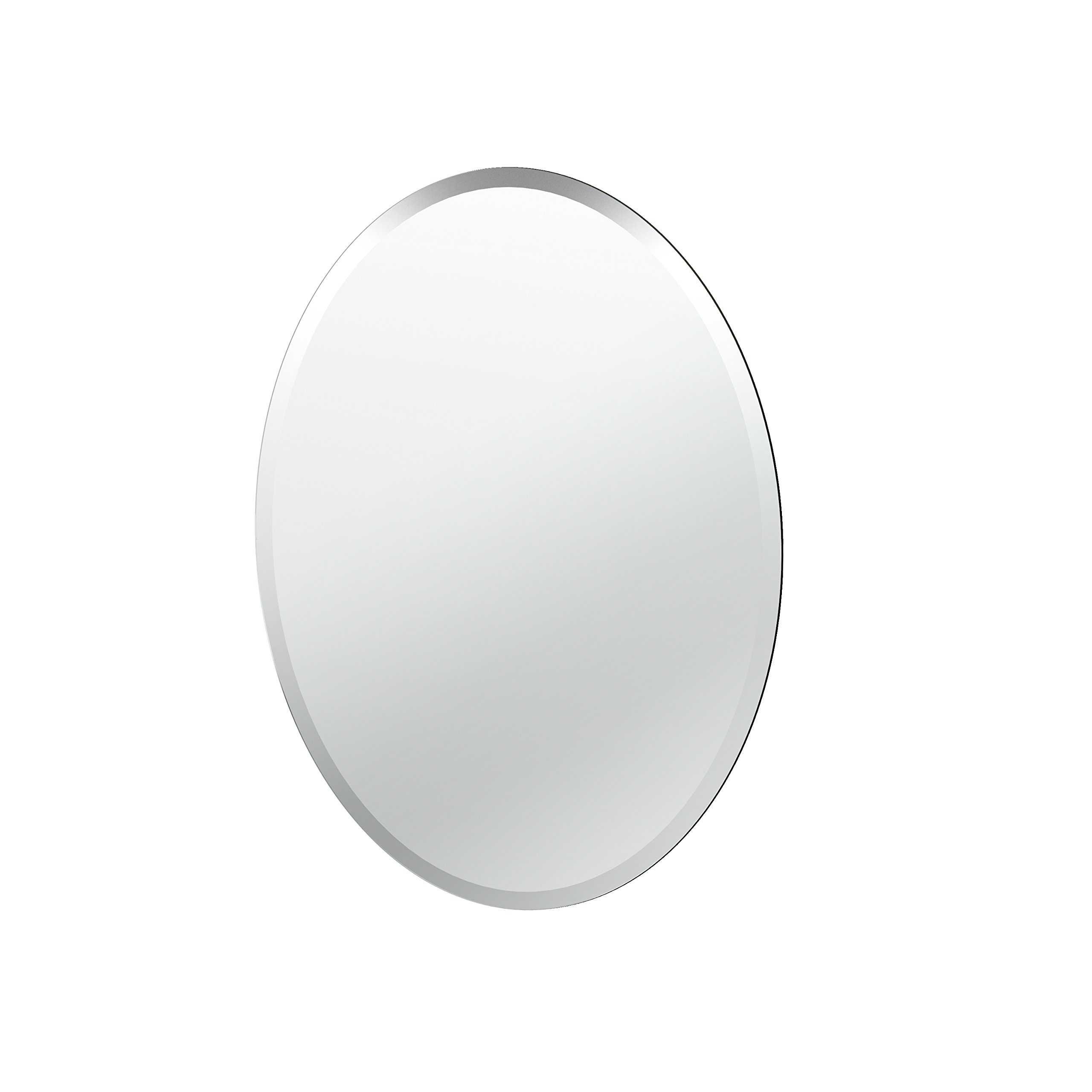 Gatco 1800 Oval Flush Mount Frameless Mirror, 26.5-inch
