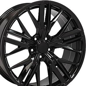 OE Wheels LLC 20 Inch Fits Chevy Camaro ZL1 Style CV25 Gloss Black 20x9.5 Rim