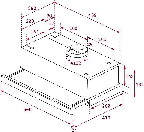 Teka 40474250 TL 6310 - Campana extraíble, 332 m³/h, acero inoxidable: Amazon.es: Grandes electrodomésticos