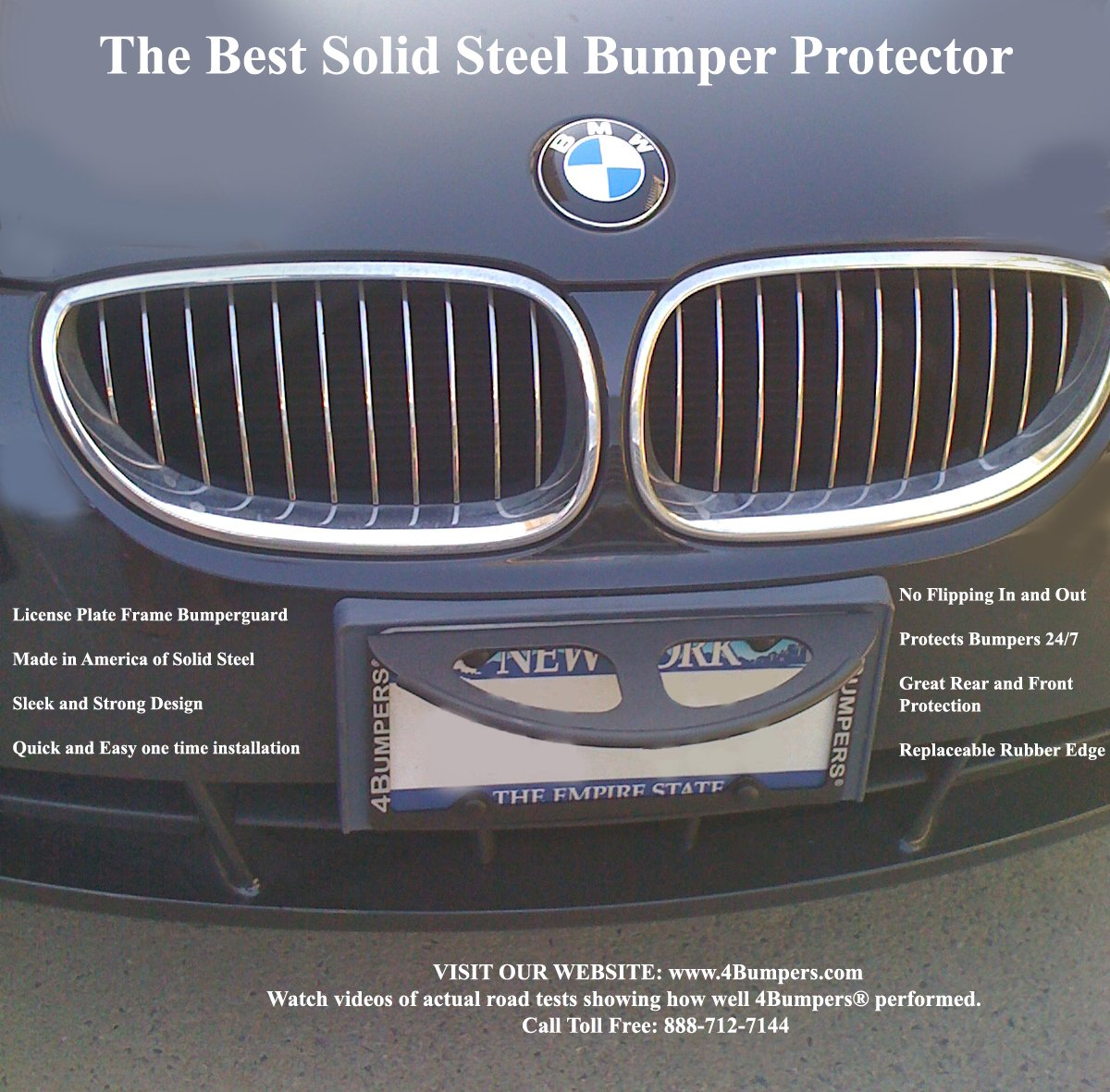 Design of a car bumper - Amazon Com 4bumpers Prime The Best Solid Steel License Plate Frame Bumper Protector Automotive