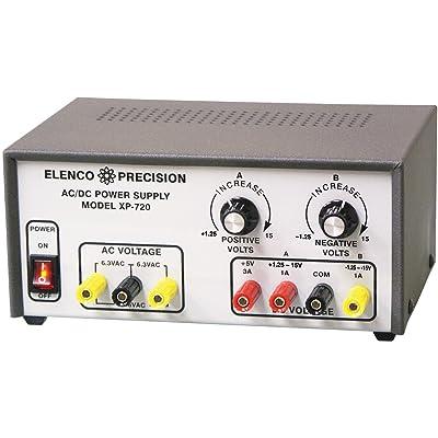 Elenco AC/DC Triple Output Power Supply Kit: Electronics