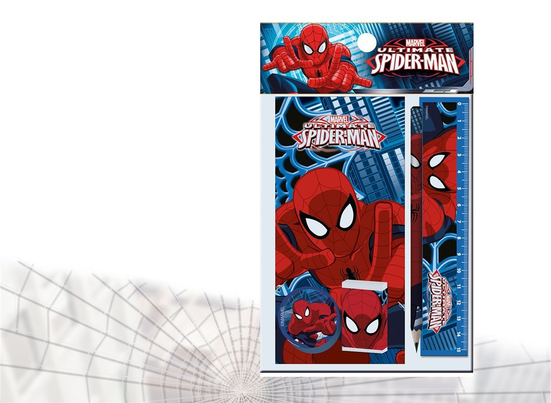 Spiderman Set de papeleria MV92379 Peluche de Spiderman 30 cm