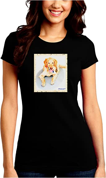 TooLoud Laying Retriever Watercolor Toddler T-Shirt