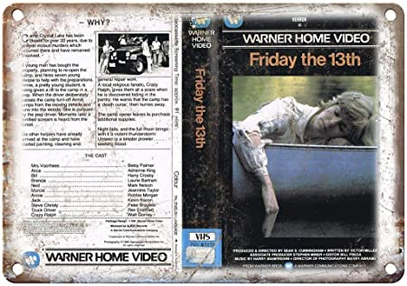 Warner Home Video Friday The 13th Póster De Pared Metal ...