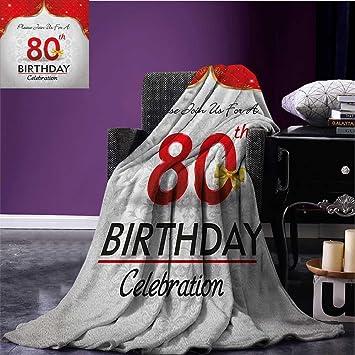 Amazon 80th Birthday Printed Blanket Party Invitation