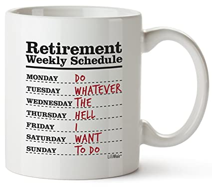 office gifts for dad. Simple For Funny Retirement Gifts For Women Men Dad Mom Coffee Mug Gift  Retired Schedule In Office For E