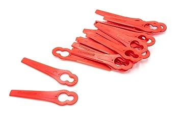 vhbw - 20 x Plástico de cuchilla para cortacésped Bosch Art ...
