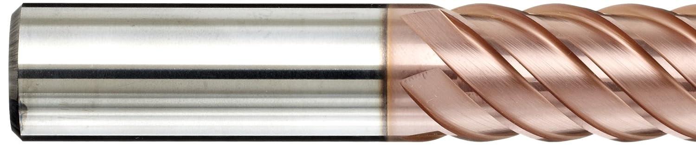 100mm Overall Length Finish YG-1 G8A39 Carbide Corner Radius End Mill 6 Flutes Uncoated 0.5mm Corner Radius 10mm Shank Diameter Bright Metric 10mm Cutting Diameter 45 Deg Helix