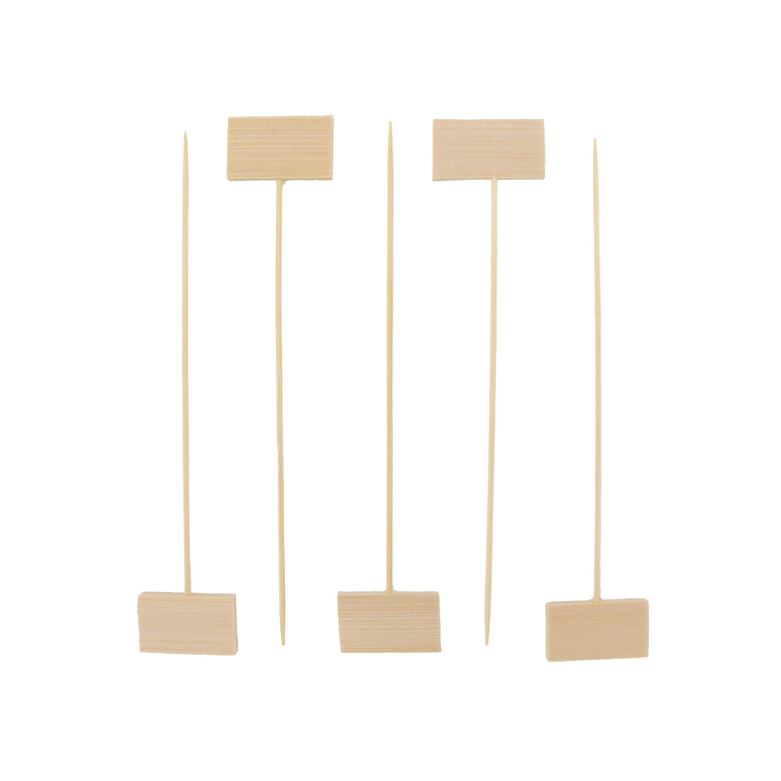 BambooMN 5'' Decorative Bamboo Small Billboard Cocktail Hors' D'oeuvres Pick Skewer for Events, Restaurants, or Home Party Supplies, 1000 Pieces