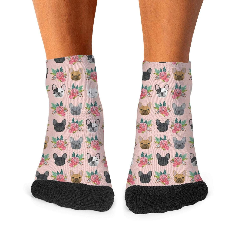 Socks Boot Cotton Non Slip Sport Mens Skateboard-Bulldog