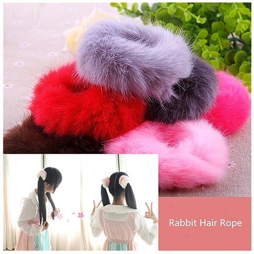 Amazon.com  Lovef 6 Pcs Fuzzy Furry Artificial Rabbit Fur Faux Fur ... d6fc3708879
