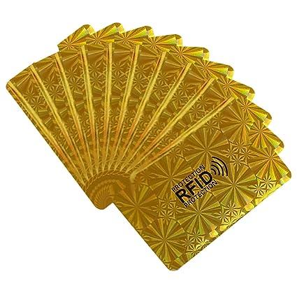 Protector de tarjeta, 20PCS lámina de aluminio RFID bloqueo ...