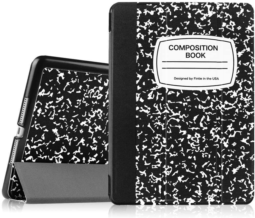 """Fintie Slimshell Case for iPad Air 9.7"""" - Lightweight Stand Smart Protective Cover with Auto Sleep/Wake Feature for iPad Air 2013 Model, Composition Book Black"""