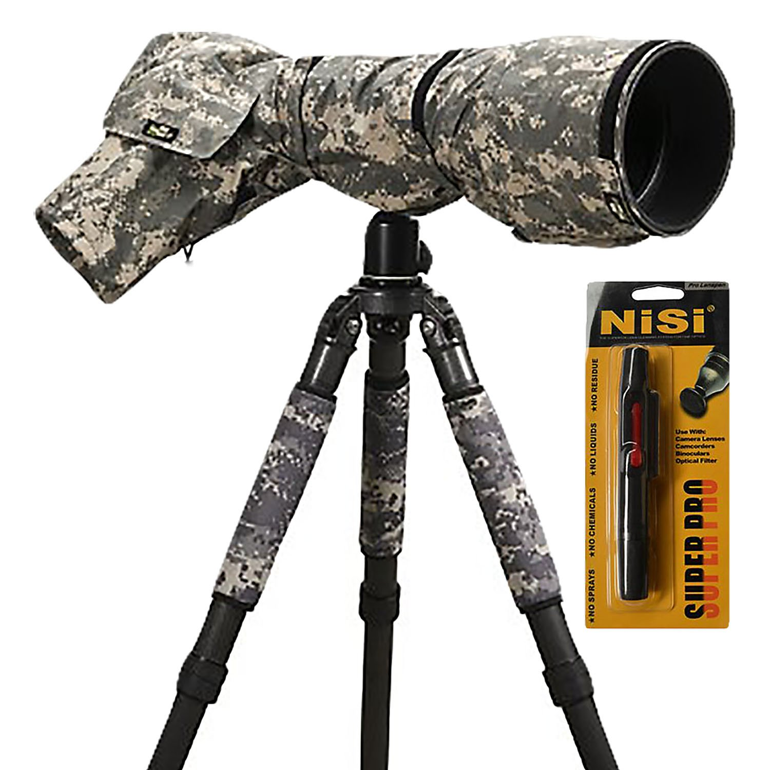 LensCoat RainCoat Pro (Digital Camo) Cover sleeve protection for Camera and Lens LCRCPDC by LENSCOAT