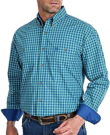 Wrangler Mens 20x Long Sleeve Button Woven Shirt