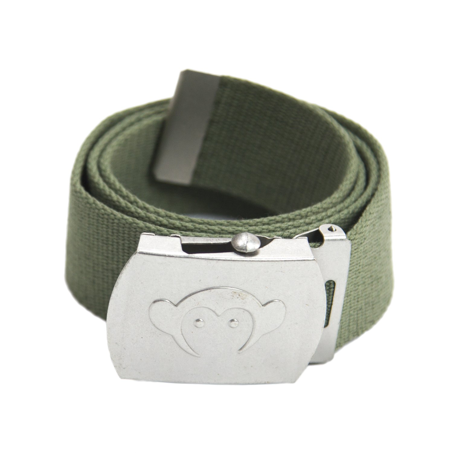 Appaman Little Boys' Canvas Belt, Olive, Large