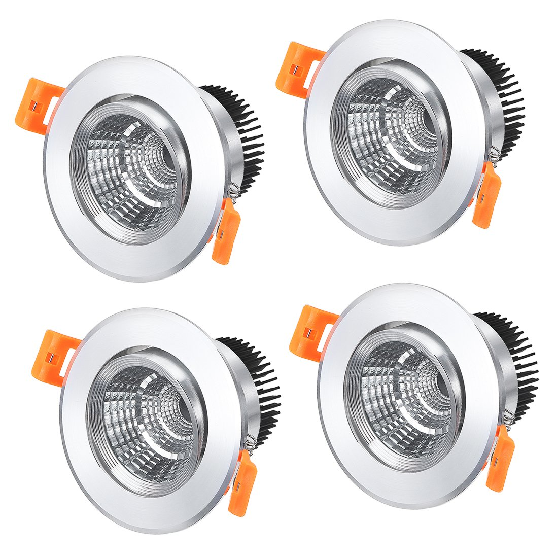 5W COB Downlight Housing Recessed Ceiling Light Spotlight Shell a17070300ux0143 uxcell 2 Pcs 90mm Dia