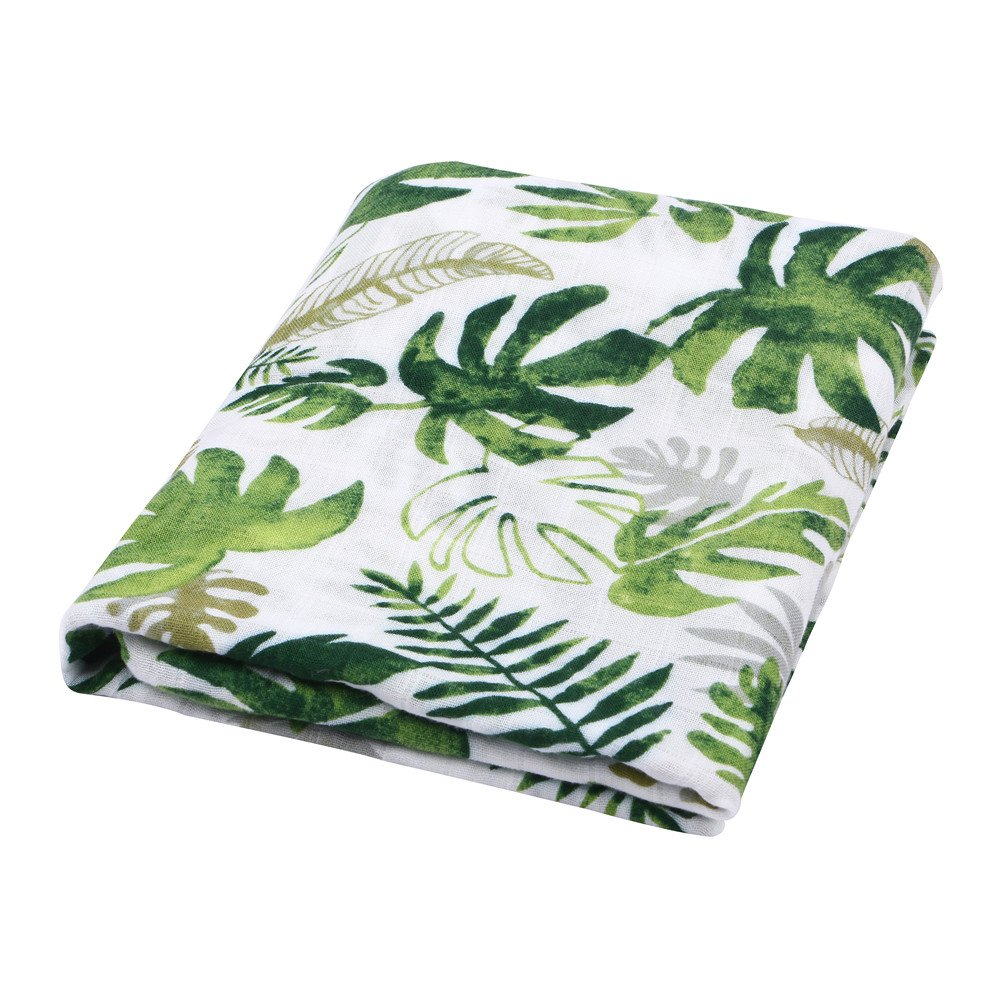 Large Summer Baby Muslin Blanket Swaddle Wrap Bamboo Muslin Swaddle Blankets for Boys 2 PackDinosaur /& Tropical Bamboo Cotton Baby Boy Blanket Toddler Blanket Dinosaur /& Tropical