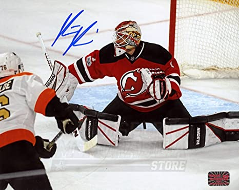 new arrival 078d7 9d1e0 Keith Kinkaid New Jersey Devils Signed Autographed Home ...