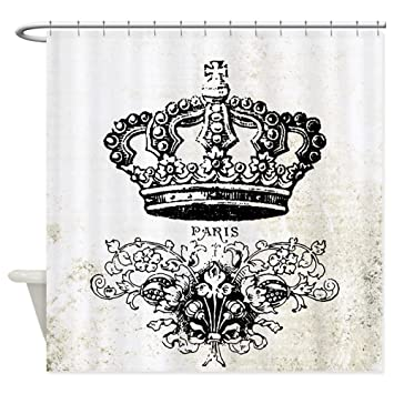 Image Unavailable Not Available For Color CafePress Vintage French Shabby Chic Crown Shower Curtain