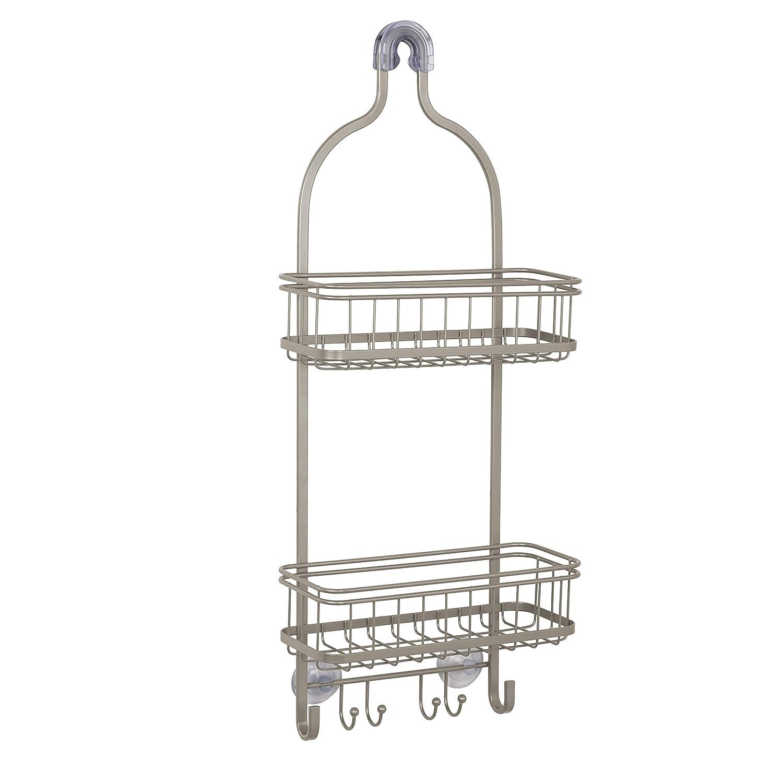 Zenna Home Extra Wide Shower Caddy Satin Nickel